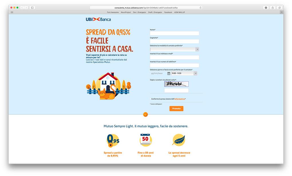 orangepix landing page biella banca