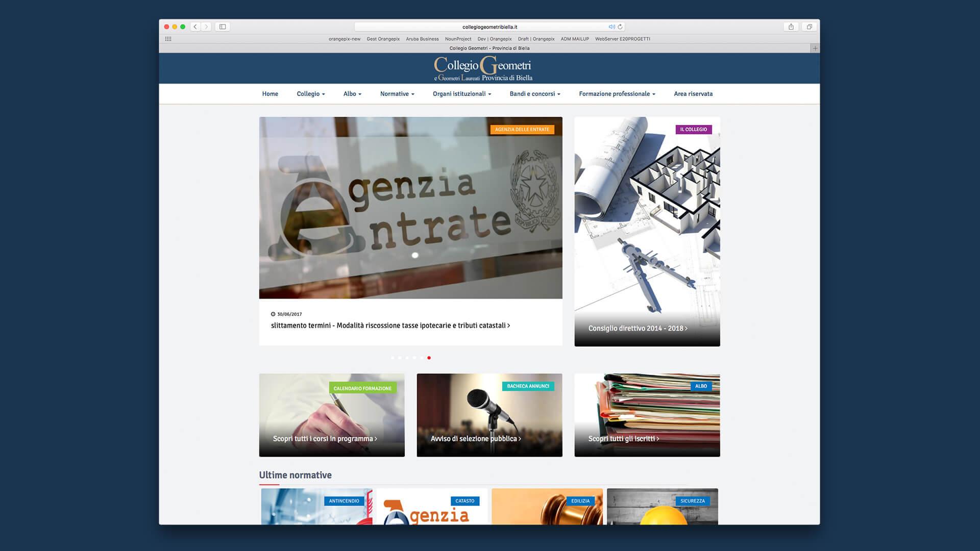 Homepage Collegio Geometri