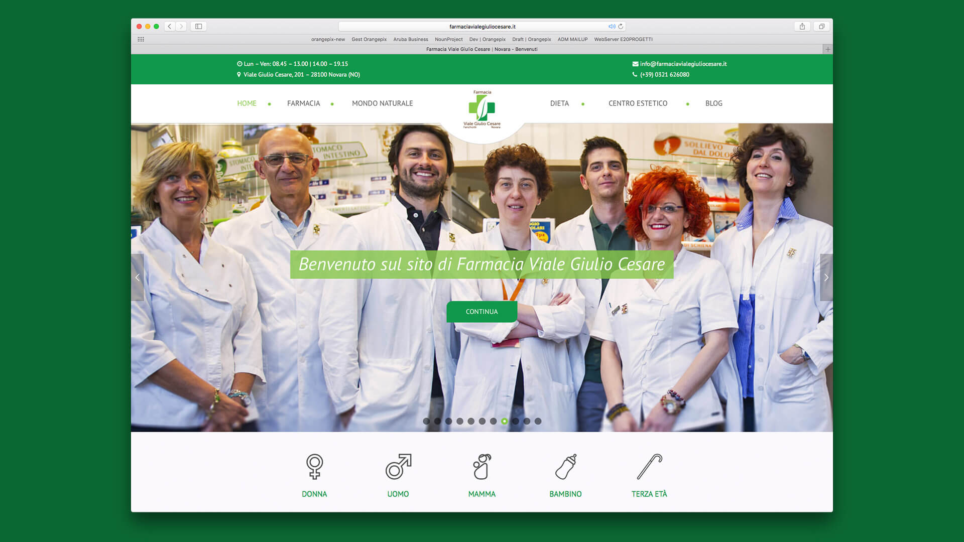 Home page Farmacia Viale Giulio Cesare