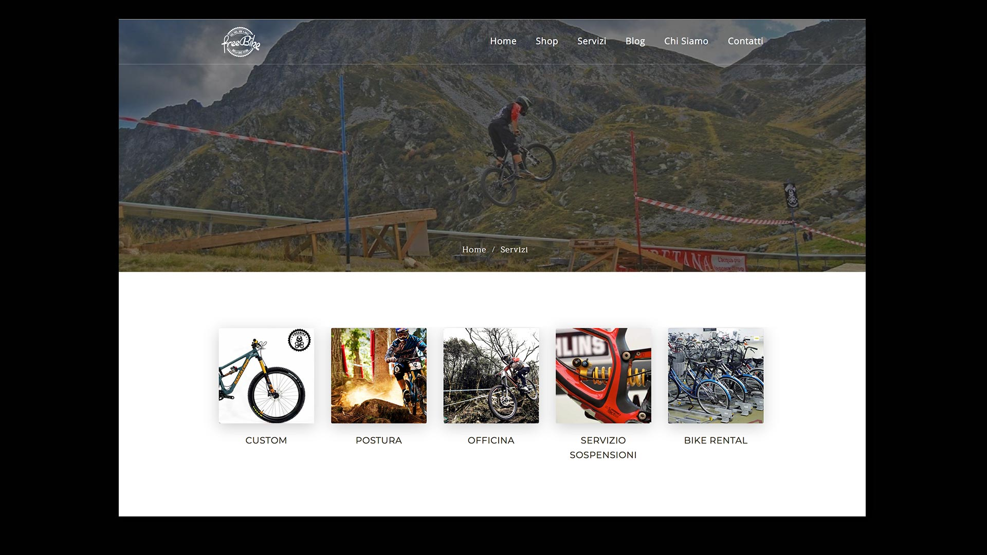Sito Web Free Bike - OrangePix