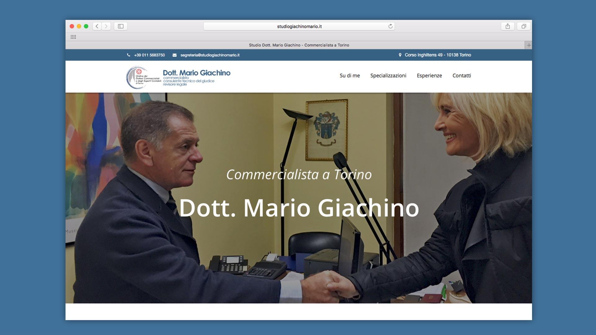 Dottor Mario Giachino Sito Web Home Commercialista Torino