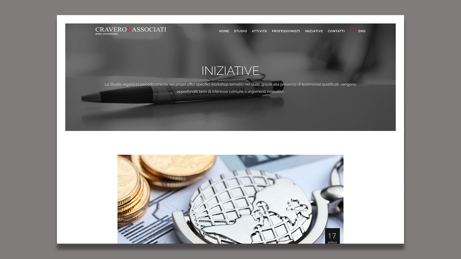Sito Web di Cravero & Associati realizzato da OrangePix a Biella
