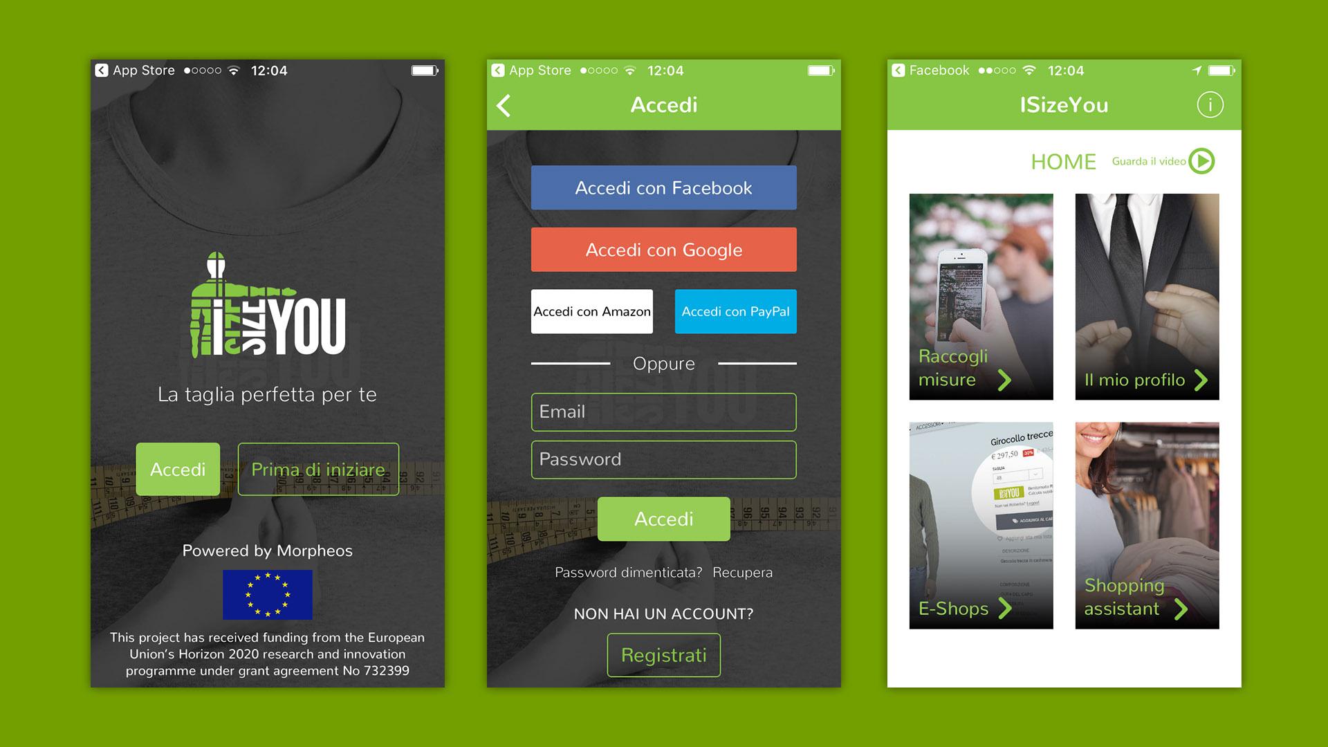 App di ISizeYou realizzata da OrangePix a Biella