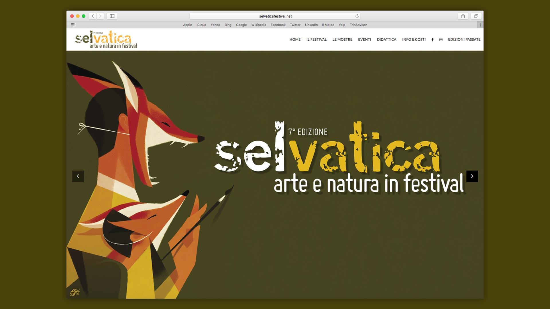 Sito Web Selvatica Festival realizzato da OrangePix a Biella