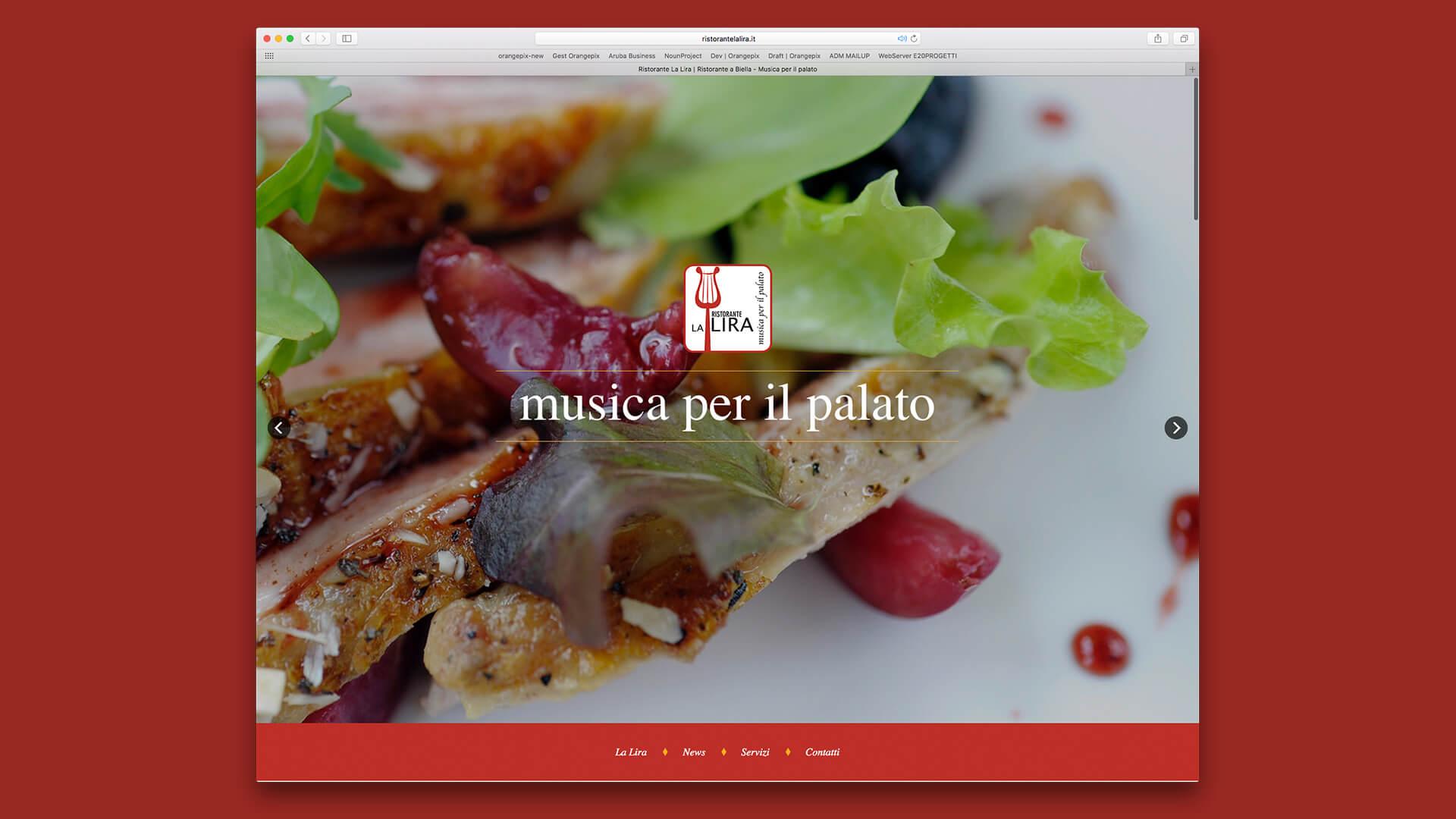 Homepage sito La Lira