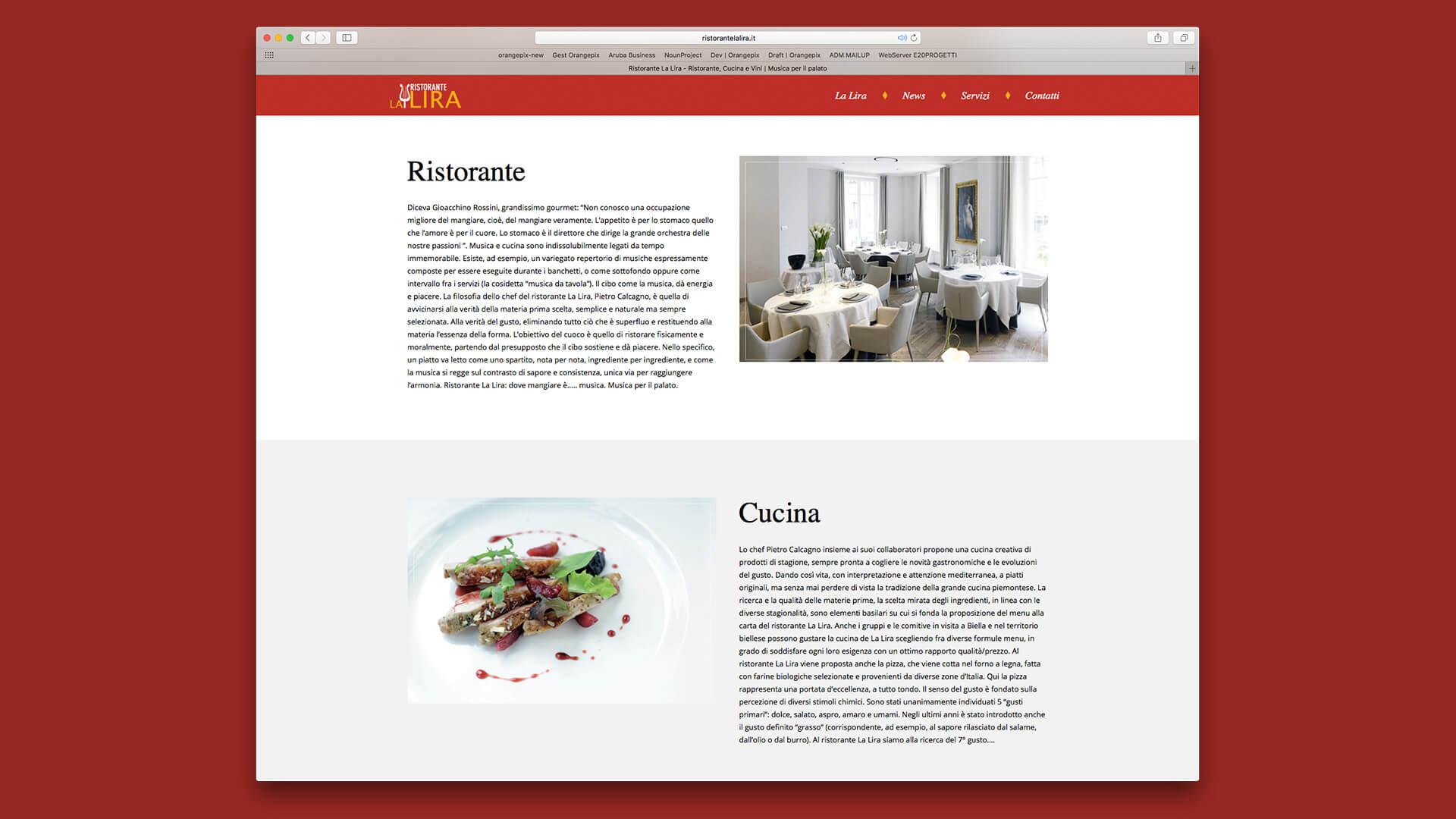 Pagina sito La Lira