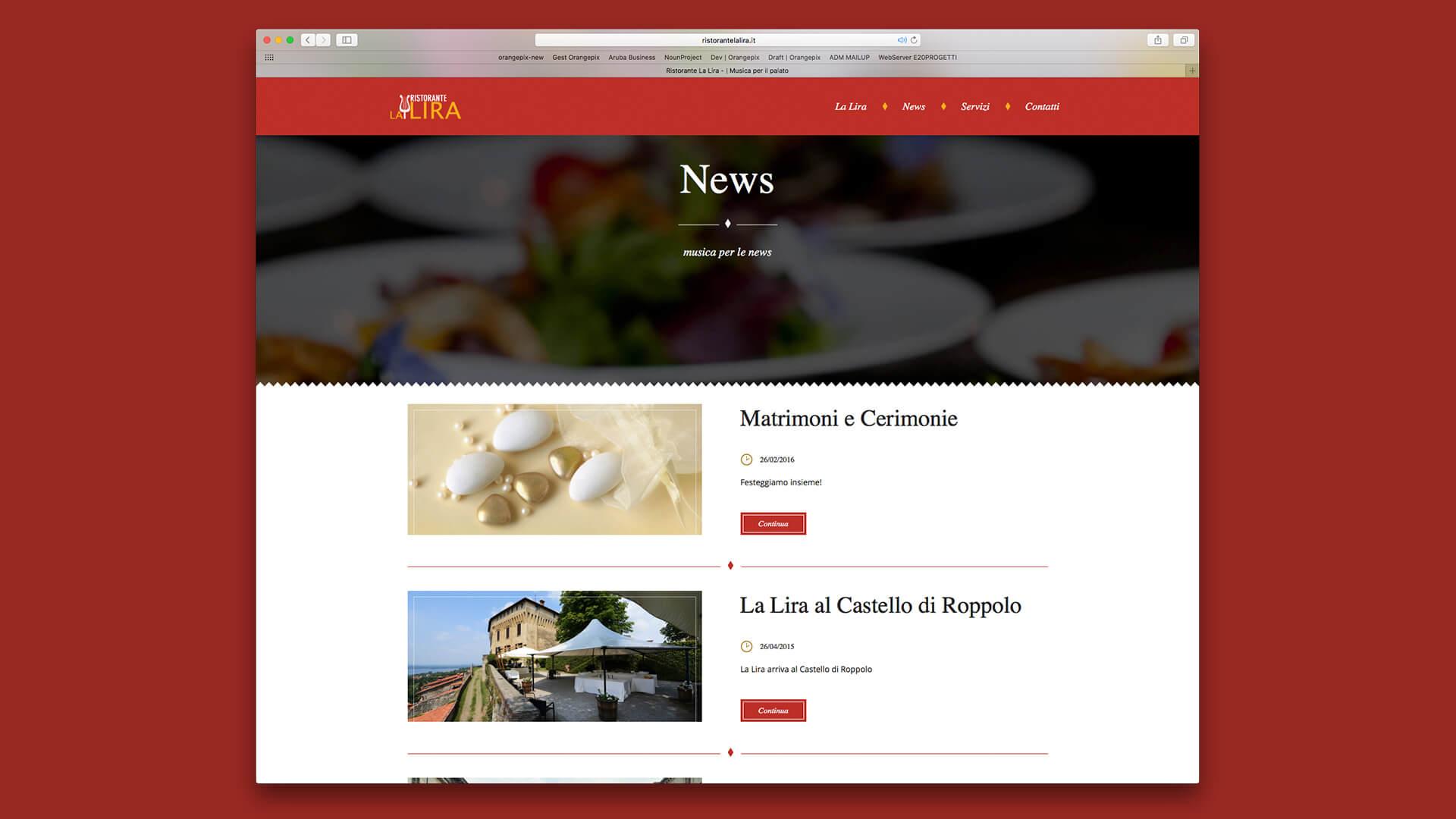 News Ristorante La Lira