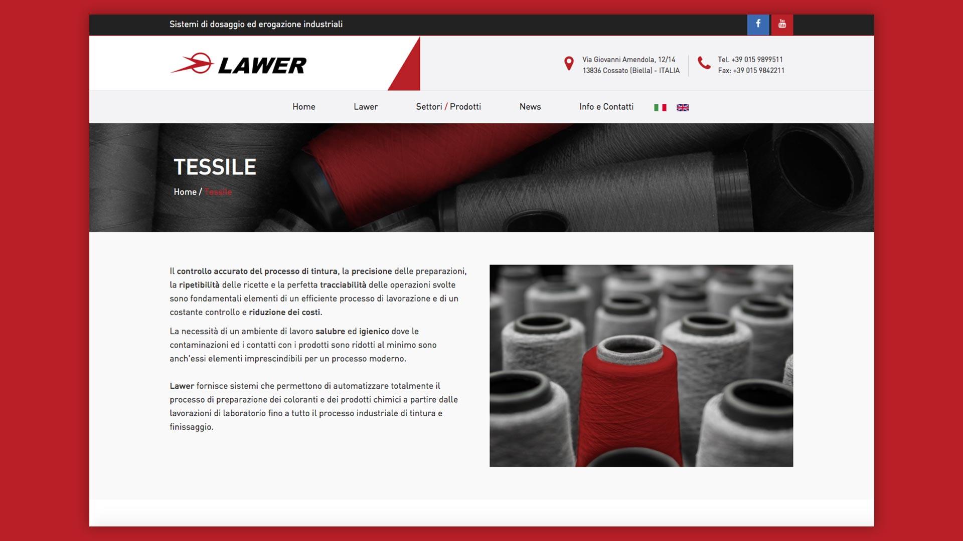 Sito Web di Lawer realizzato da OrangePix a Biella