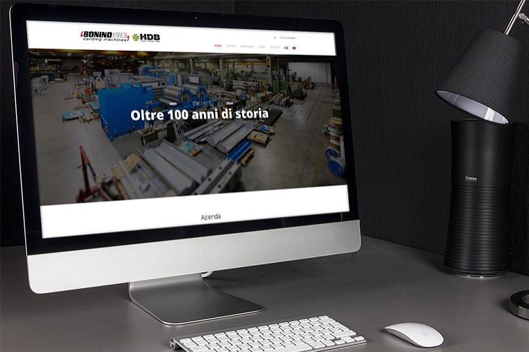 Realizzazione siti-web Bonino Carding Machines OrangePix