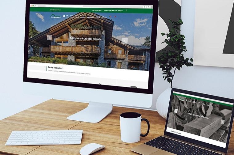 Realizzazione siti-web Borney Legnami OrangePix