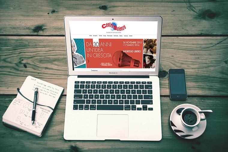 Realizzazione siti-web Centroscienza OrangePix