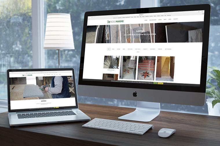 Realizzazione siti-web Rosi Marmi OrangePix