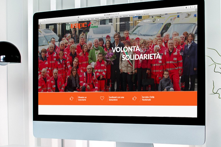 Realizzazione siti-web VAPC Onlus OrangePix