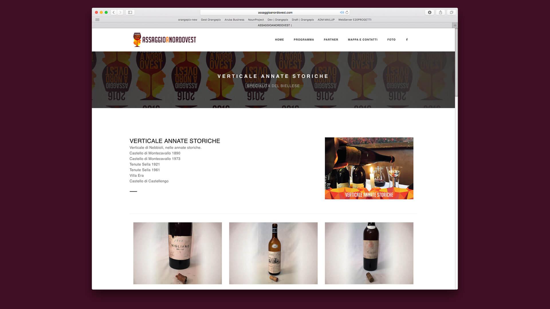 Sezione brand vini