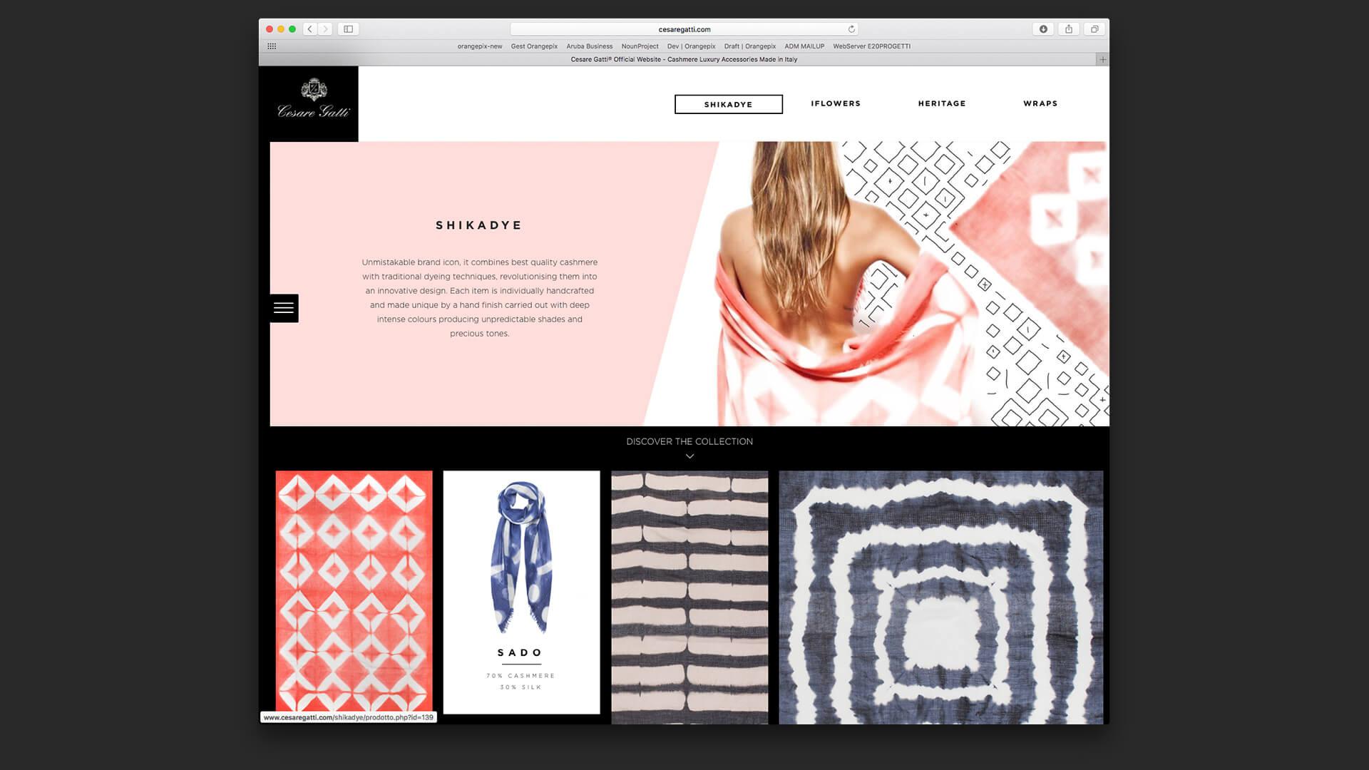 Web design del sito
