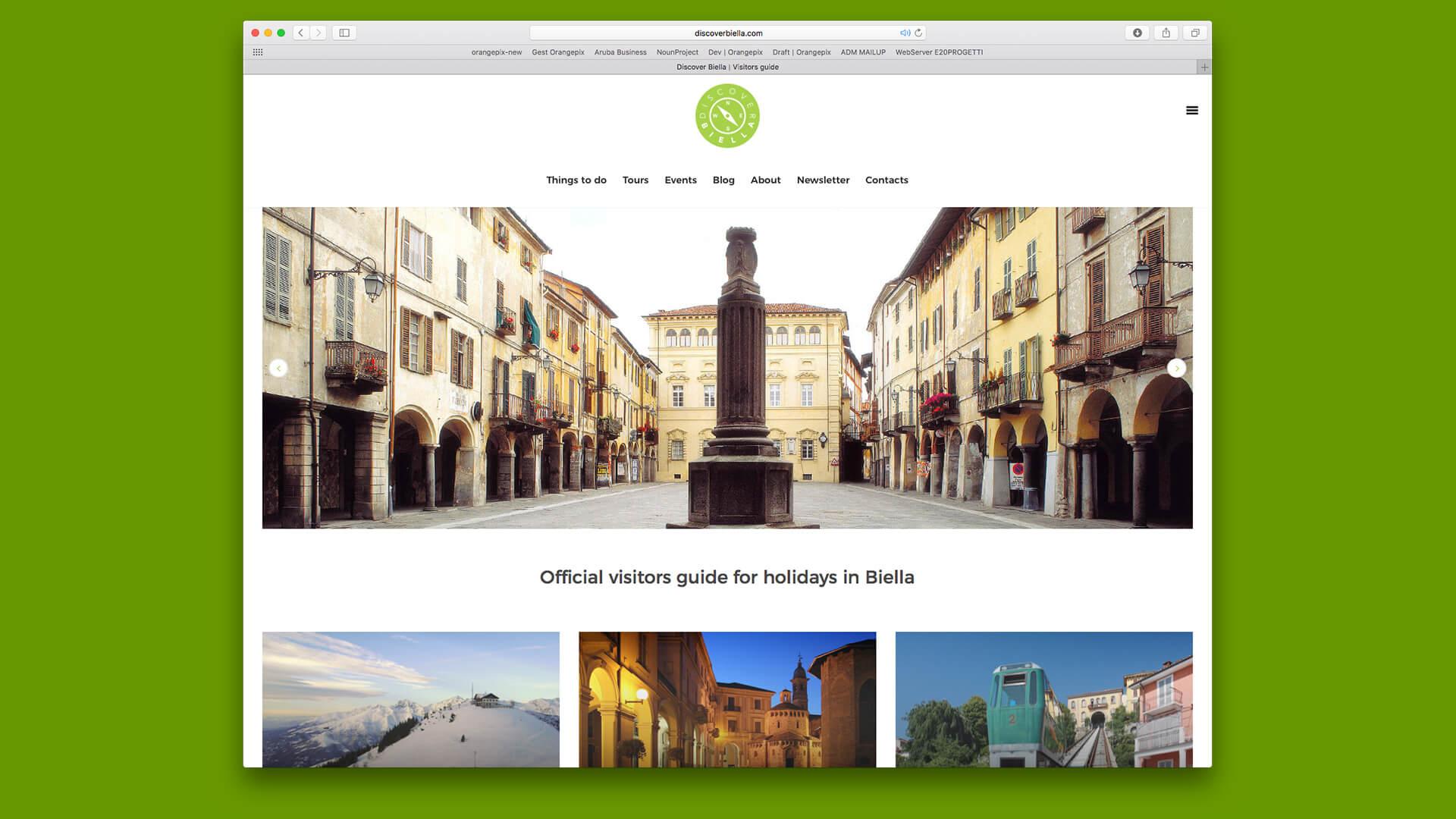 Home page del sito Discover