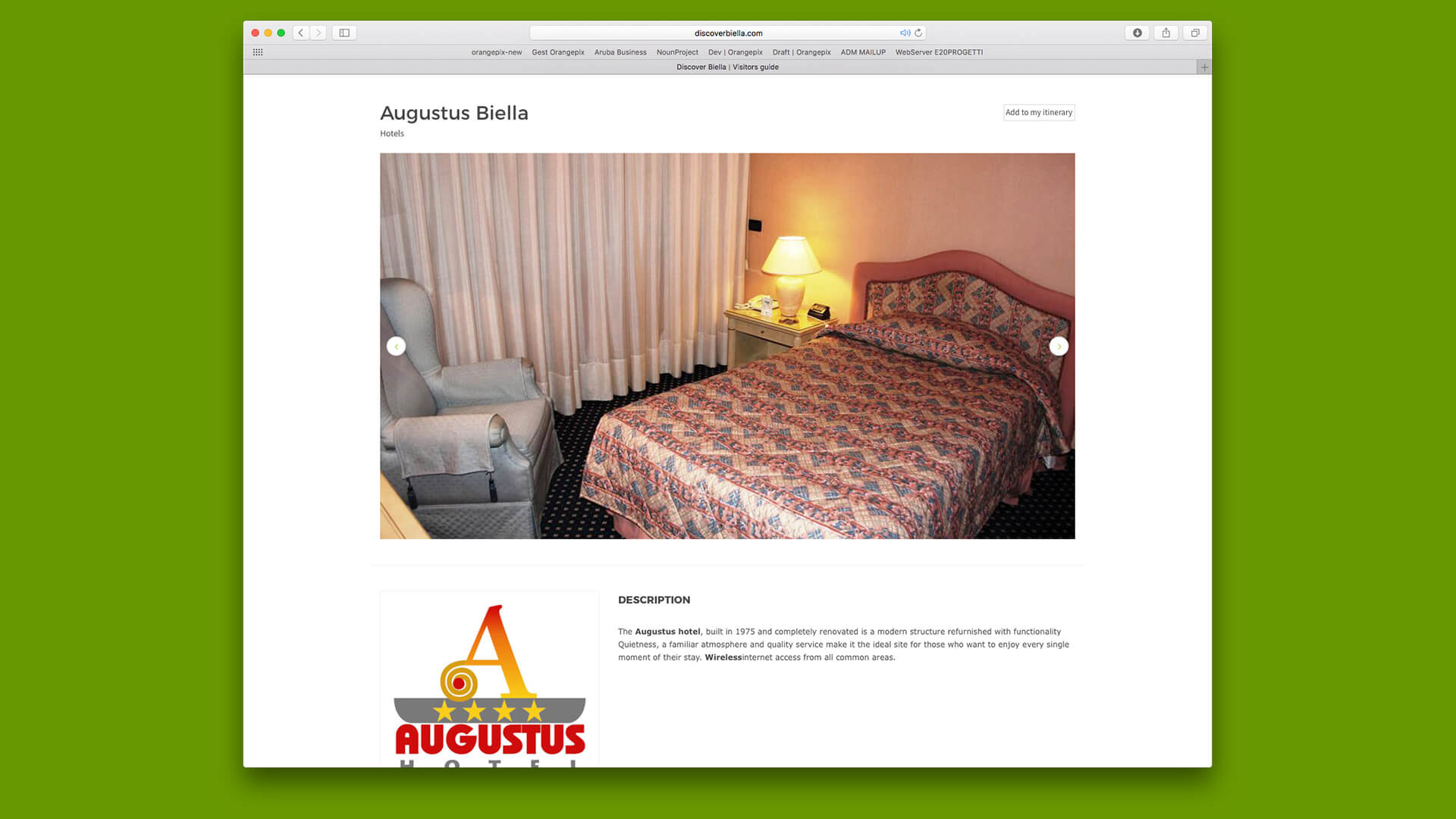 Presentazione alberghi Biella