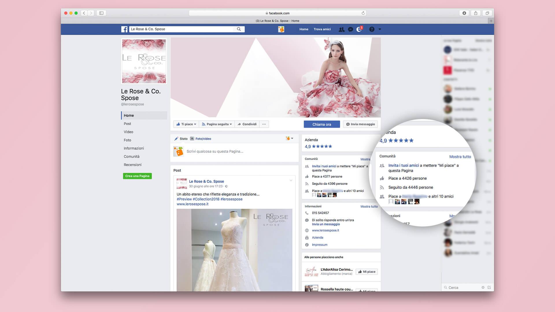 Pagina Facebook Le Rose Spose