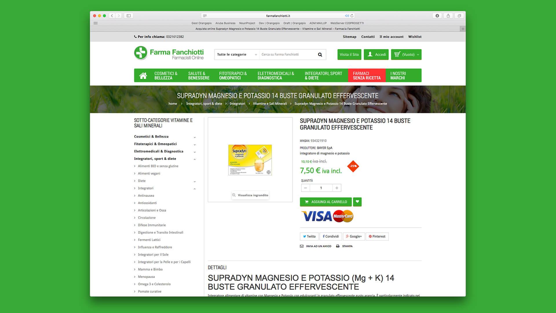Sezione pagamenti farmacia