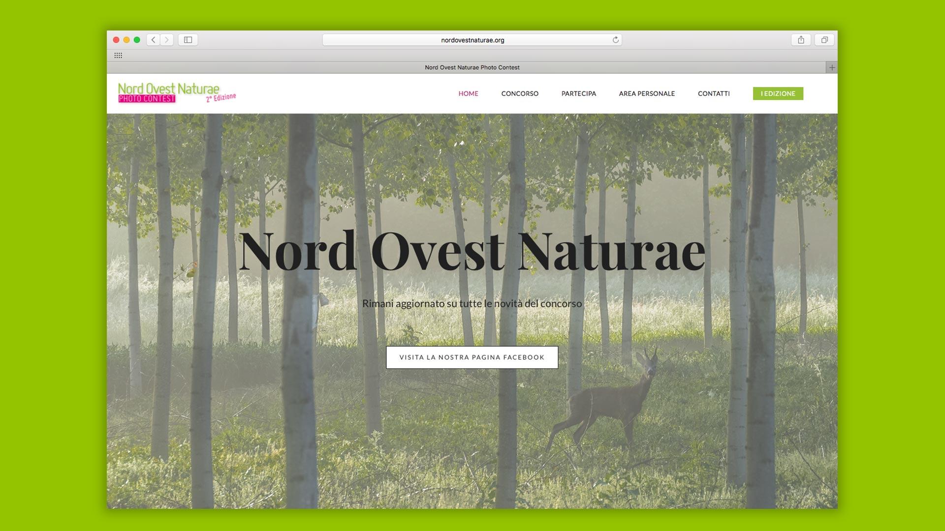 Concorso fotografico sito web realizzato da OrangePix a Biella