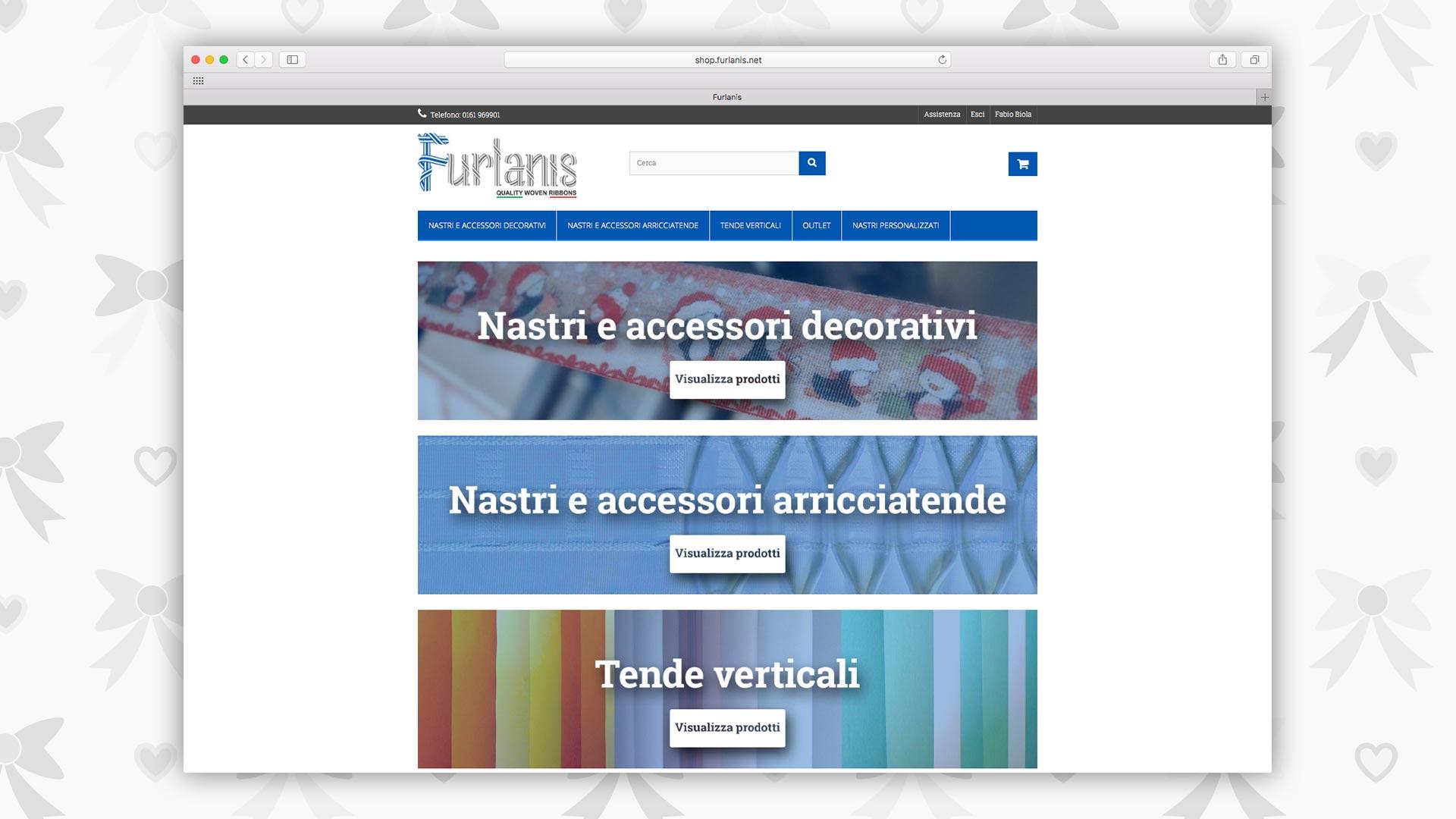 Sito E-commerce B2B di Furlanis realizzato da OrangePix a Biella