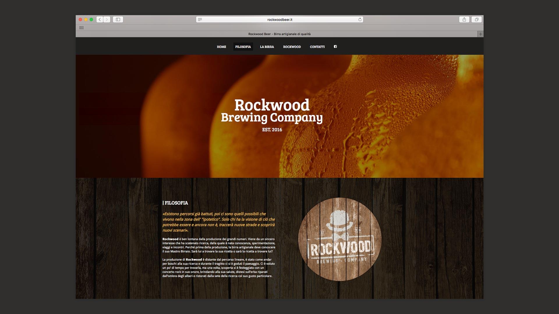Sito Web di Rockwood realizzato da OrangePix a Biella