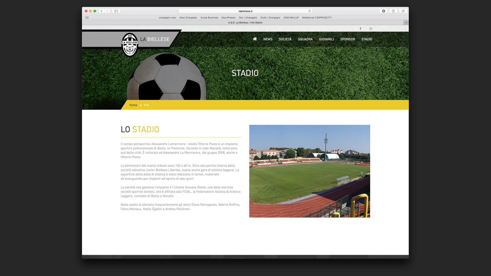 Descrizione del campo di calcio