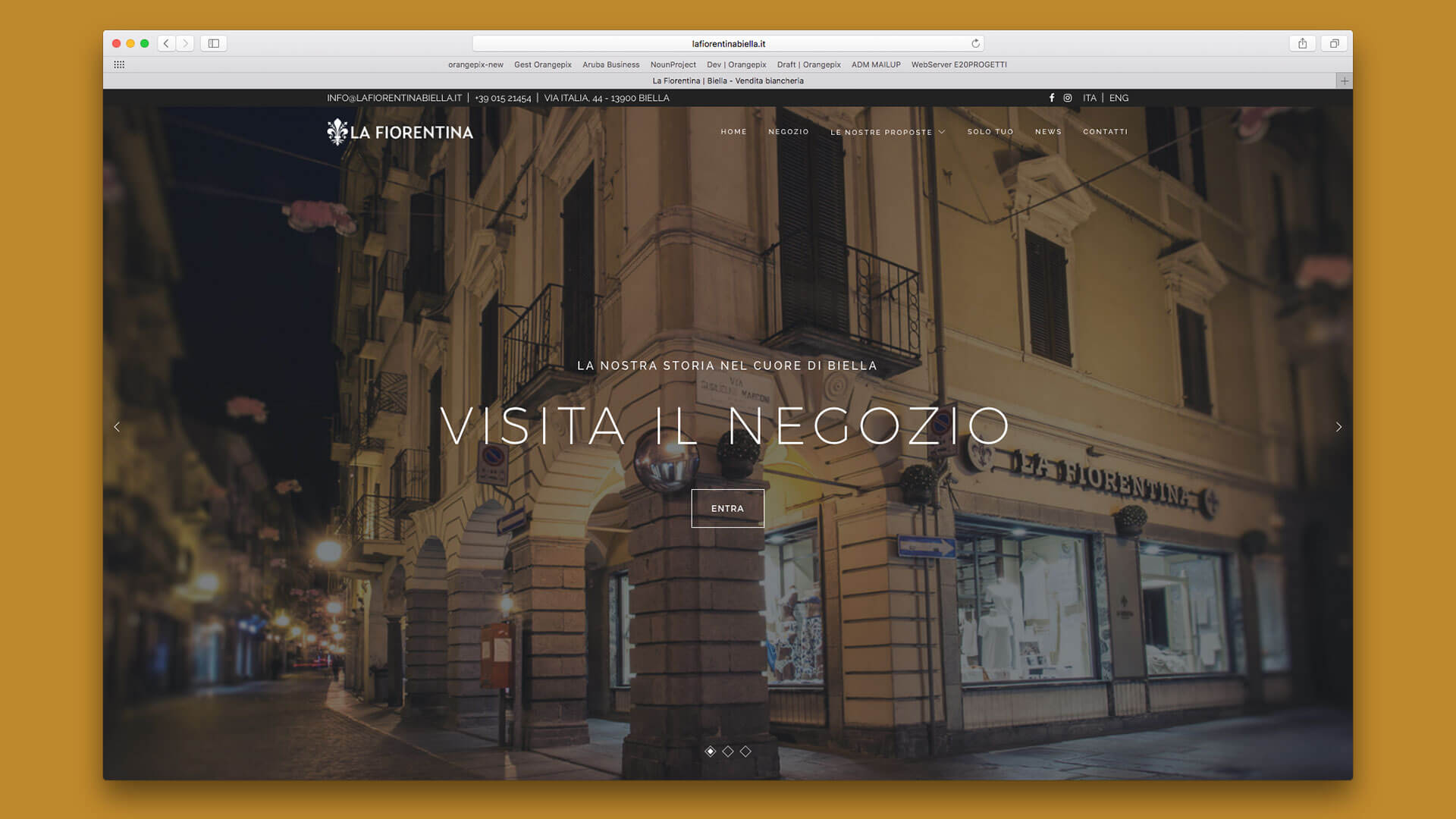 Sito Web di La Fiorentina realizzato da OrangePix a Biella