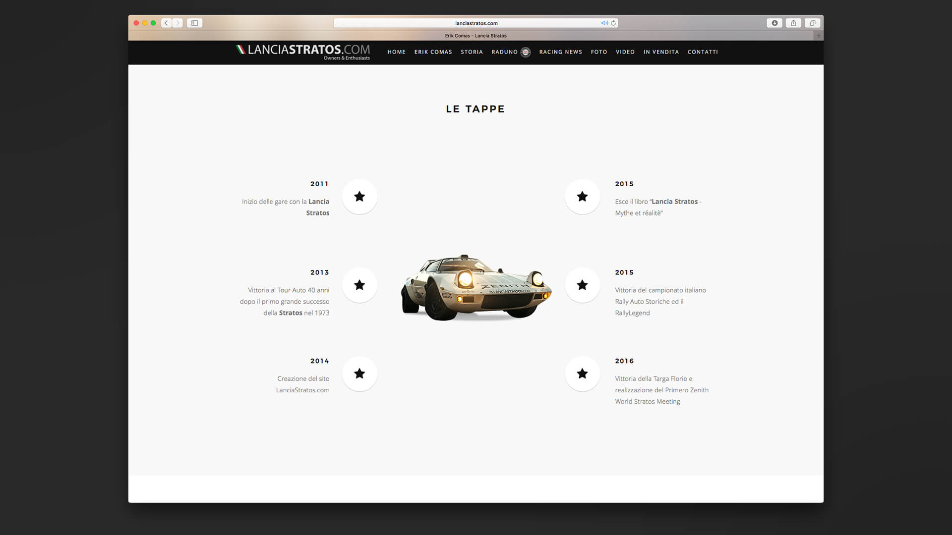Scheda auto Lancia Stratos