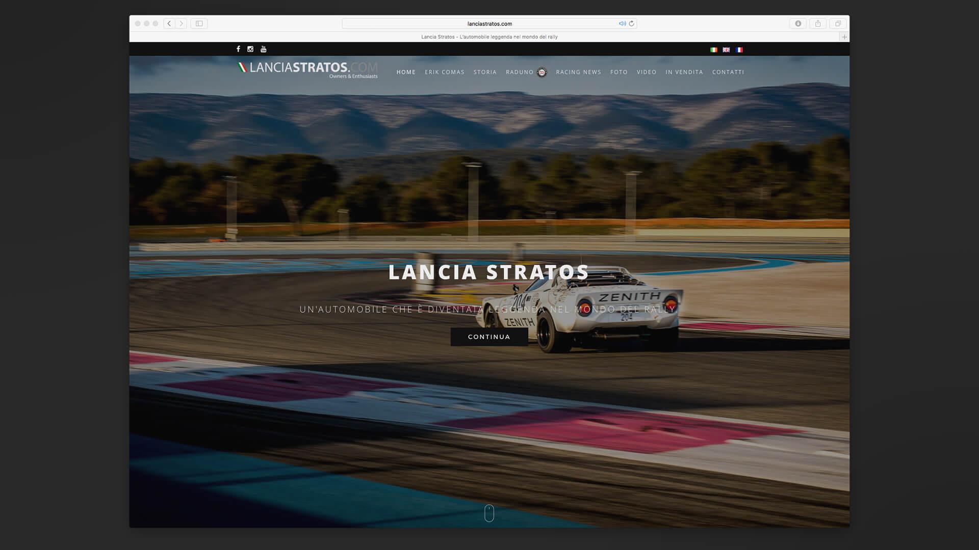 Home Page del sito Lancia Stratos