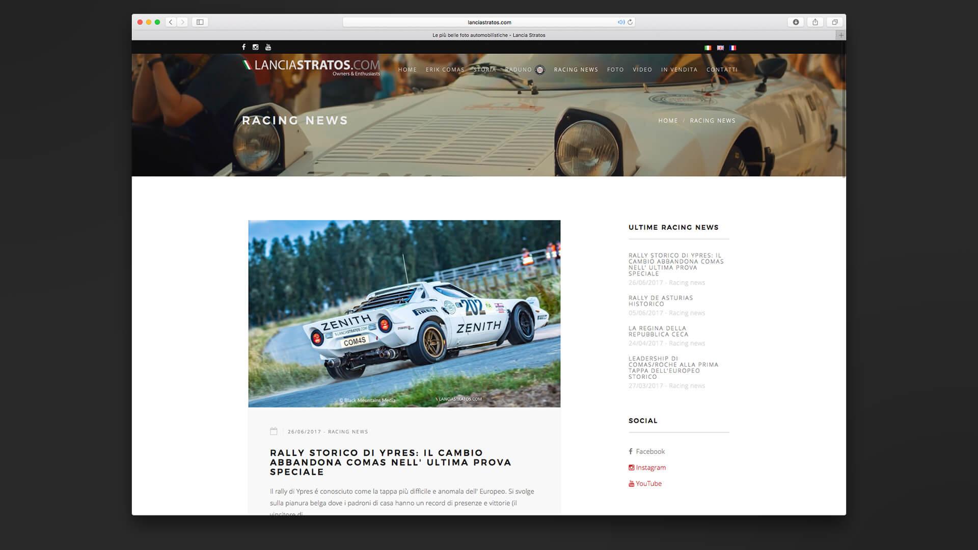 Sezione news del sito