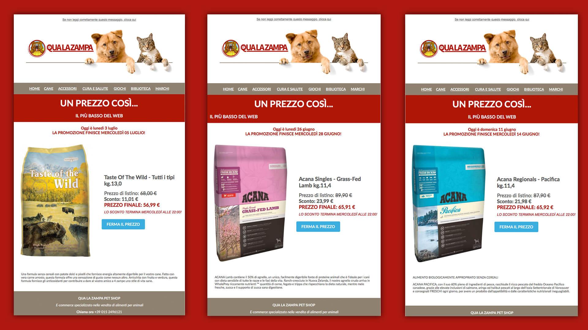 Prodotti pet in promozione