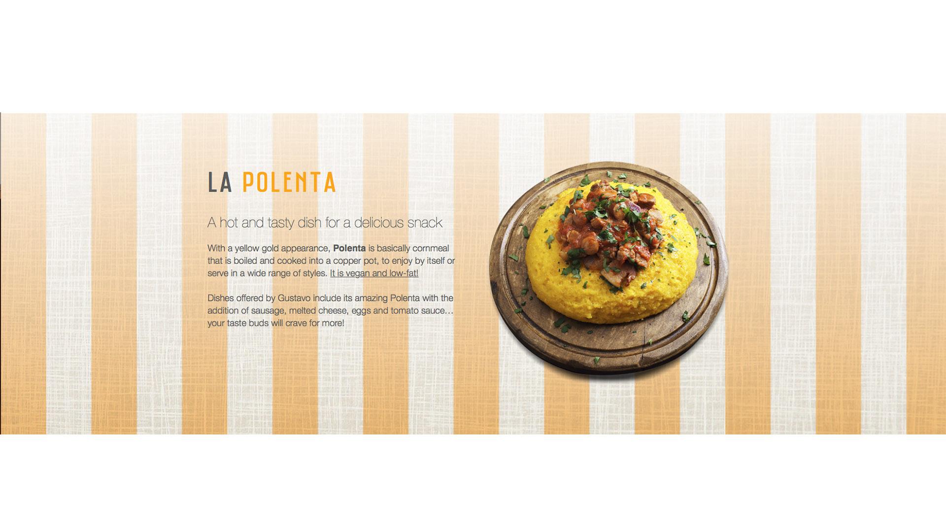 Gustavo polenta la ricetta